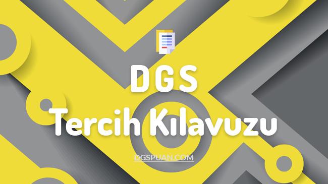 2021 DGS Tercih Kılavuzu