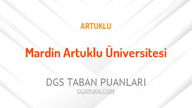 DGS Mardin Artuklu Üniversitesi 2021 Taban Puanları