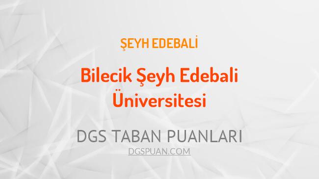 DGS Bilecik Şeyh Edebali Üniversitesi 2021 Taban Puanları