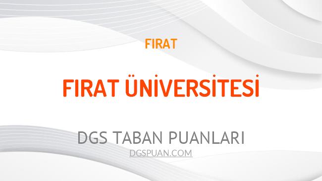 DGS Fırat Üniversitesi 2021 Taban Puanları