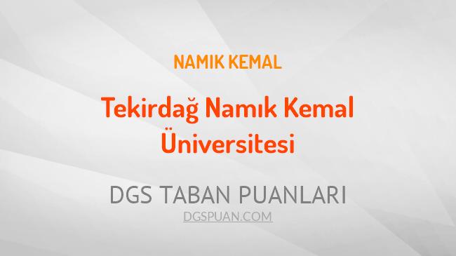 DGS Tekirdağ Namık Kemal Üniversitesi 2021 Taban Puanları