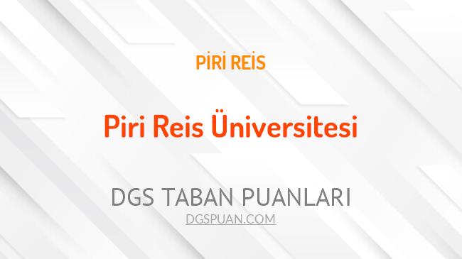 DGS Piri Reis Üniversitesi 2021 Taban Puanları
