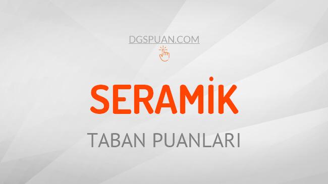 DGS Seramik 2021 Taban Puanları ve Kontenjanları