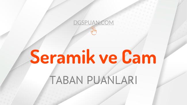 DGS Seramik ve Cam 2021 Taban Puanları ve Kontenjanları
