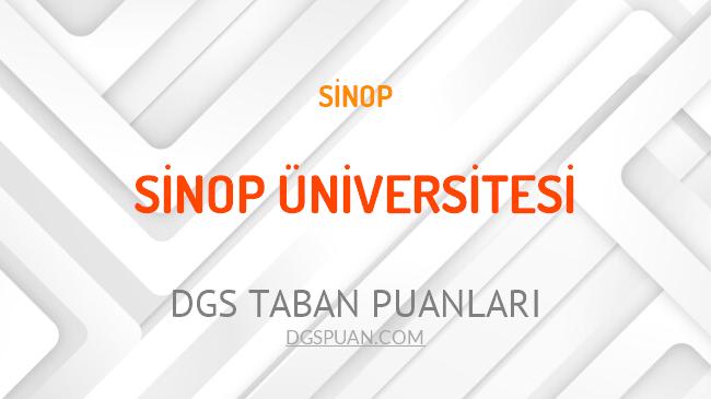 DGS Sinop Üniversitesi 2021 Taban Puanları