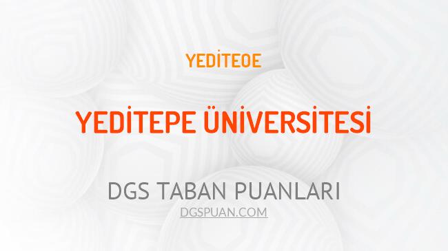 DGS Yeditepe Üniversitesi 2021 Taban Puanları