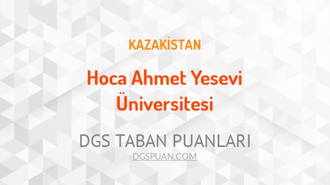 DGS Hoca Ahmet Yesevi Üniversitesi 2021 Taban Puanları
