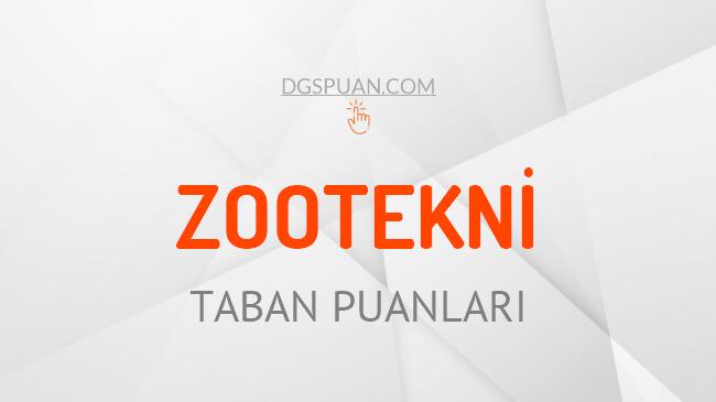 DGS Zootekni 2021 Taban Puanları ve Kontenjanları