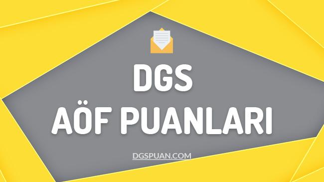 DGS Açıköğretim Taban Puanları 2021