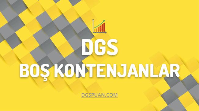 DGS Boş Kalan Bölümler ve Kontenjanları