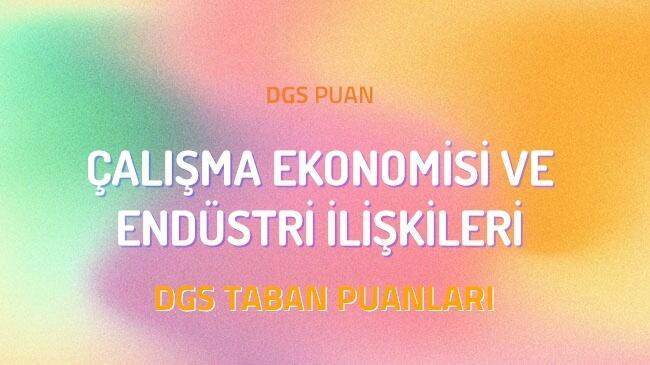 DGS Çalışma Ekonomisi ve Endüstri İlişkileri 2022 Taban Puanları