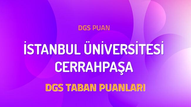 DGS İstanbul Üniversitesi Cerrahpaşa 2022 Taban Puanları
