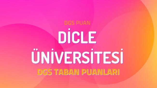 DGS Dicle Üniversitesi 2022 Taban Puanları