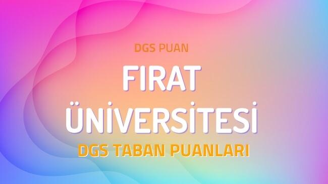DGS Fırat Üniversitesi 2022 Taban Puanları