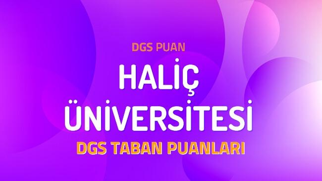 DGS Haliç Üniversitesi 2022 Taban Puanları