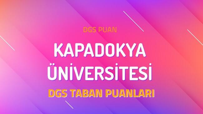 DGS Kapadokya Üniversitesi 2022 Taban Puanları
