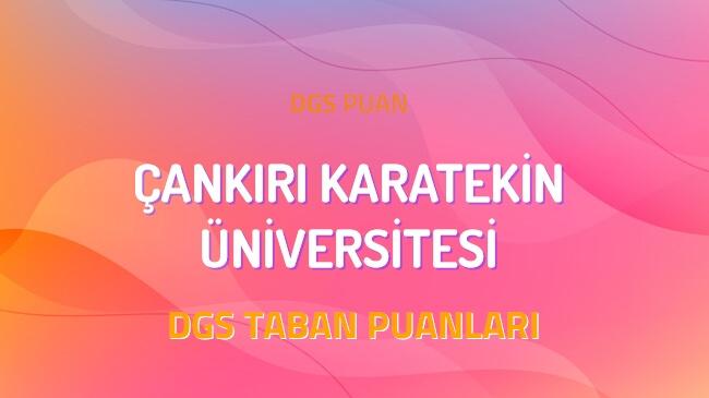 DGS Çankırı Karatekin Üniversitesi 2022 Taban Puanları