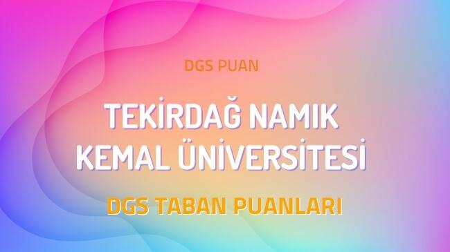 DGS Tekirdağ Namık Kemal Üniversitesi 2022 Taban Puanları